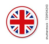 uk of great britain button... | Shutterstock .eps vector #720934243