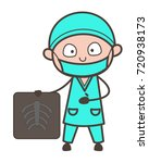 cartoon orthopedic doctor... | Shutterstock .eps vector #720938173