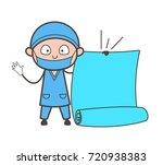 cartoon therapist holding a... | Shutterstock .eps vector #720938383
