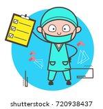 cartoon surgeon showing... | Shutterstock .eps vector #720938437