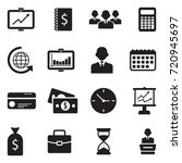 business icons. black flat... | Shutterstock .eps vector #720945697