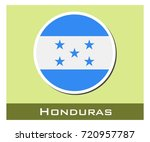 honduras flag icon | Shutterstock .eps vector #720957787