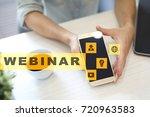 webinar. e learning  online... | Shutterstock . vector #720963583