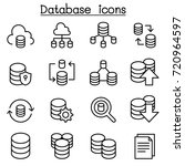 server  database  hosting ... | Shutterstock .eps vector #720964597