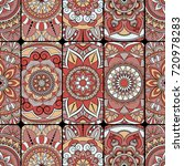 seamless pattern tile with... | Shutterstock .eps vector #720978283