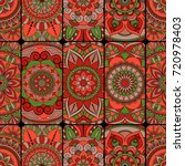 seamless pattern tile with...   Shutterstock .eps vector #720978403