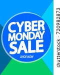 cyber monday sale  poster... | Shutterstock .eps vector #720982873
