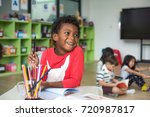 kids kindergartner in group of... | Shutterstock . vector #720987817