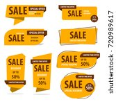 banner sale collection set  ... | Shutterstock .eps vector #720989617