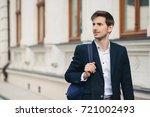 profile portrait of handsome... | Shutterstock . vector #721002493