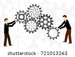 business teamwork with...   Shutterstock .eps vector #721013263