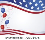 red white and blue flag wave... | Shutterstock .eps vector #72101476