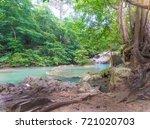 erawan waterfall  kanchanaburi ... | Shutterstock . vector #721020703