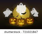 vector illustration cartoon... | Shutterstock .eps vector #721021867
