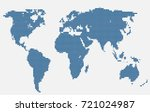 dotted world map. vector map. | Shutterstock .eps vector #721024987