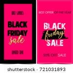black friday banners  | Shutterstock . vector #721031893