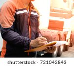 driver worker handling... | Shutterstock . vector #721042843