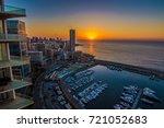 sunset over downtown beirut   Shutterstock . vector #721052683