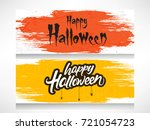 scary text of happy halloween... | Shutterstock .eps vector #721054723