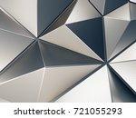 metal abstract background 3d... | Shutterstock . vector #721055293