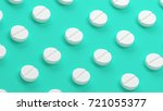 pills isolated on green... | Shutterstock . vector #721055377