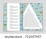 abstract vector layout... | Shutterstock .eps vector #721057957