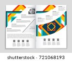 abstract vector layout... | Shutterstock .eps vector #721068193
