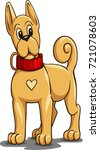 puppy. vector image  draw.a... | Shutterstock .eps vector #721078603