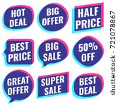 big  super sale  special  great ... | Shutterstock .eps vector #721078867