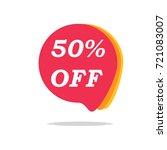 50  off sale discount banner.... | Shutterstock .eps vector #721083007