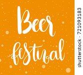 beer festival   unique hand... | Shutterstock .eps vector #721093183