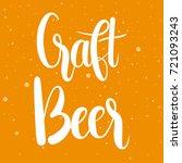 craft beer   unique hand drawn... | Shutterstock .eps vector #721093243