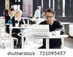 lot of business people sitting... | Shutterstock . vector #721095457