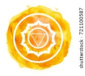 chakra symbol watercolor...   Shutterstock . vector #721100587