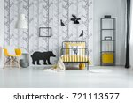 white blanket on yellow overlay ... | Shutterstock . vector #721113577