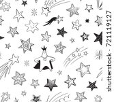 seamless pattern from stars on... | Shutterstock .eps vector #721119127