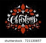 christmas postcard with...