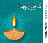 greeting card for diwali... | Shutterstock .eps vector #721141717