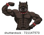 angry dog mascot cartoon | Shutterstock . vector #721147573