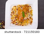 rice pilafs known as zereshk... | Shutterstock . vector #721150183