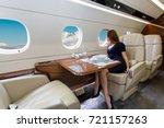 young beautiful woman in luxury ...   Shutterstock . vector #721157263