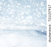 natural winter background with... | Shutterstock . vector #721157917