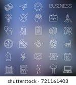 thin line vector business...   Shutterstock .eps vector #721161403