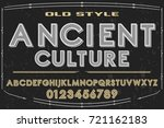 vintage font alphabet... | Shutterstock .eps vector #721162183