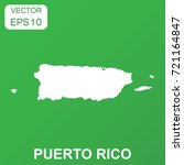 puerto rico map icon.  | Shutterstock .eps vector #721164847