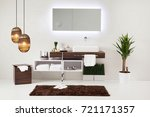 bathroom style and interior... | Shutterstock . vector #721171357