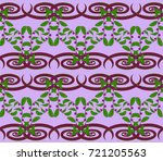 seamless pattern with purple... | Shutterstock .eps vector #721205563