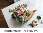 boutonnieres and wedding... | Shutterstock . vector #721207597