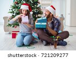 girlfriend and boyfriend... | Shutterstock . vector #721209277