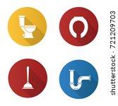 plumbing flat design long... | Shutterstock .eps vector #721209703